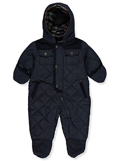 Diamond Quilt Insulated Pram Suit by La Petite Rothschild in Navy