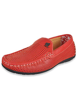 "Boys' ""Paget"" Driving Loafers by Stacy Adams in Red"