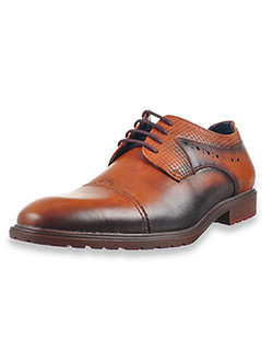 Boys' Raiden Oxford Dress Shoes by Stacy Adams in black and tan