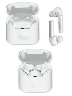 Wireless Bluetooth Earbuds with Charging Case by Air Vibes in White