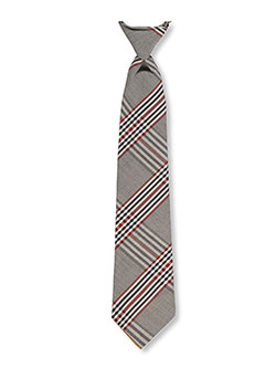 Adjustable Banded Necktie with Clip in black, black/red, red/white/navy and more - $12.00