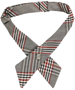 Crisscross Neck Tie in black, brown, red/white/navy and more - $6.99