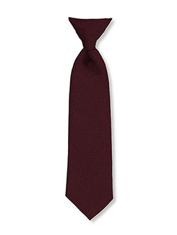 Clip-on Tie in black, burgundy, green, navy and red