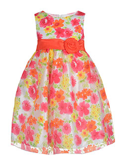 "American Princess Little Girls' ""Springtime Watercolors"" Dress (Sizes 4 – 6X) - CookiesKids.com"
