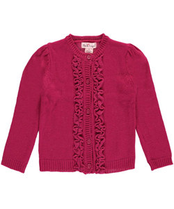 "Pink Angel Little Girls' Toddler ""Ruffled Shine"" Cardigan (Sizes 2T – 4T) - CookiesKids.com"