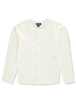 Girls' Cardigan by Marilyn Taylor in White, Sizes 2T-4T