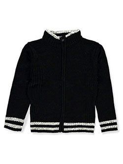 Boys' Full Zip Sweater by Sezzit in black/gray, black/red and navy/ivory