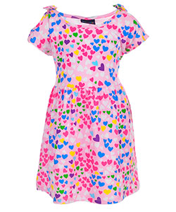 Sweet & Soft Girls' Cold Shoulder Dress - CookiesKids.com