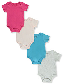 Girls' 4-Pack Bodysuits by Sweet & Soft in Peach multi, Infants