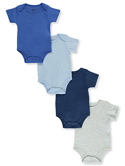 Boys' 4-Pack Bodysuits by Sweet & Soft in Blue/multi