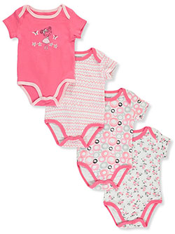 Flower Girl 4-Pack Bodysuits by Sweet & Soft in Multi, Infants