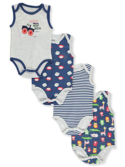 Safari Adventure 4-Pack Bodysuits by Sweet & Soft in Multi