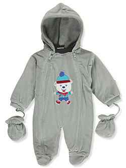 Baby Boys' Ice Bear Plush Pram Suit by Sweet & Soft - Snowsuits