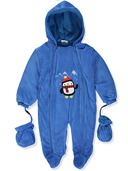 Baby Boys' Penguin Plush Pram Suit by Sweet & Soft