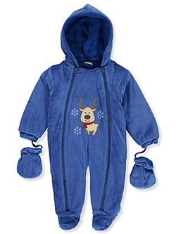 Baby Boys' Reindeer Plush Pram Suit by Sweet & Soft - Snowsuits
