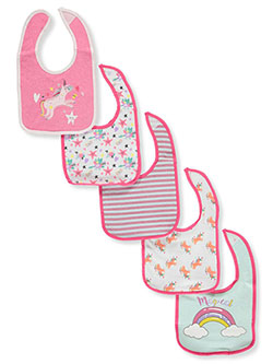 5-Pack Bibs by Sweet & Soft in Fuchsia/multi - $5.99