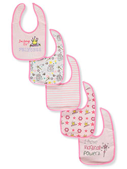 5-Pack Bibs by Sweet & Soft in Light pink multi - $5.99