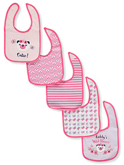 5-Pack Bibs by Sweet & Soft in Pink/multi - $5.99
