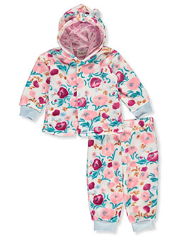 Floral 2-Piece Sweatsuit Outfit by Sweet & Soft in Multi