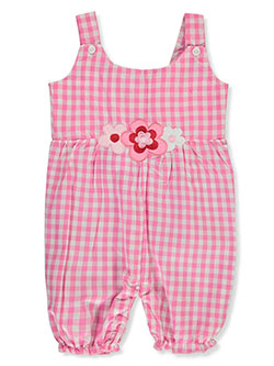 Baby Girls' Checkered Romper by Sweet & Soft in pink and red - $12.00