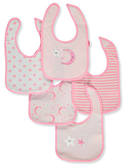 Baby Girls' 5-pack bibs by Sweet & Soft in Multi - Bibs