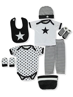Baby Unisex 10-Piece Layette Set by Sweet & Soft in Multi