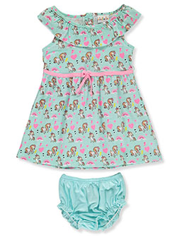 2-Piece Unicorn Dress Set Outfit by Sweet & Soft in mint multi and pink/multi