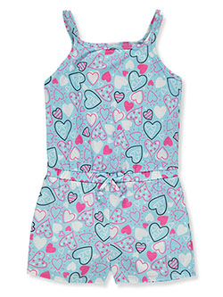 Baby Girls' Doodle Heart Romper by Sweet & Soft in blue/multi and fuchsia/multi
