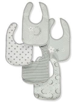 5-Pack Baby Bibs by Sweet & Soft in Gray/multi - Bibs