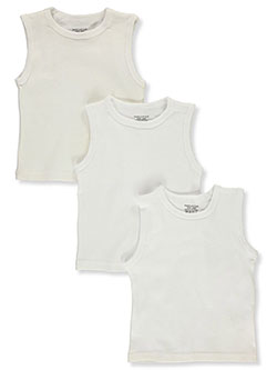 Baby Unisex 3-Pack Tank Tops by Sweet & Soft in White