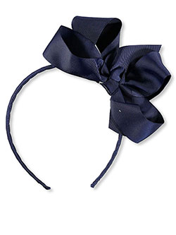Large Bow Headband by School Uniform in navy and white