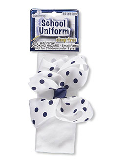 "School Uniform ""Dotted Bow"" Headwrap - CookiesKids.com"