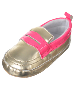 "So'dorable Baby Girls' ""Metallic Loafer"" Booties - CookiesKids.com"