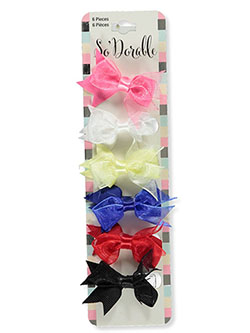 6-Pack Tulle & Grosgrain Hair Bows by So'dorable in Multi