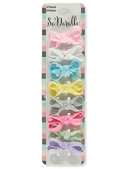 8-Pack Grosgrain Loop Hair Bows by So'dorable in Multi