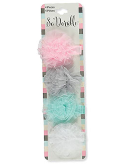 4-Pack Tulle Accent Hair Clips by So'dorable in Multi