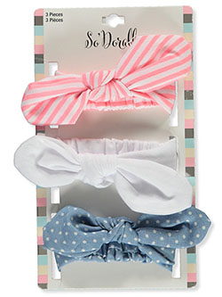 3-Pack Patterned Headbands by So'dorable in Multi
