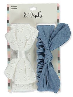 2-Pack Texture Headbands by So'dorable in White