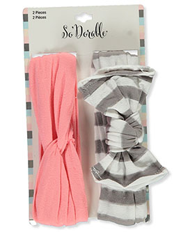 2-Pack Gathered & Stripe Headbands by So'dorable in Multi