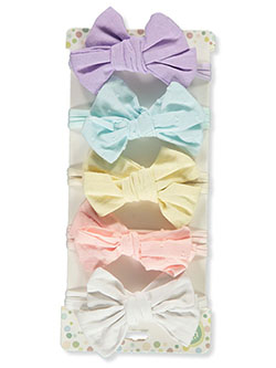 5-Pack Bow Headbands by Little Me in Multi