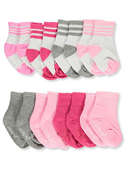 8-Pack Half-Cushioned Grippy Socks by Little Me in Multi