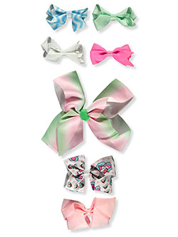 7-Pack Bow Hair Clips by Buttons & Bows in Multi