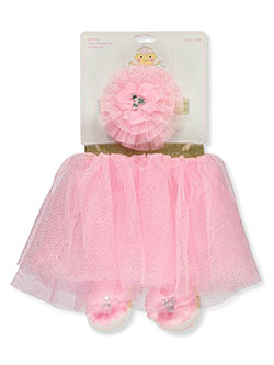Baby Girls' 3-Piece Tutu Set by Little Cuties in Pink