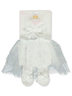Baby Girls' 3-Piece Tutu Set by Little Cuties in White