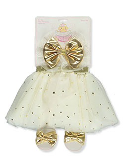 Baby Girls' 3-Piece Tutu Set by Little Cuties in Ivory
