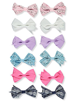 12-Pack Hair Clips by Buttons & Bows in Pink/multi