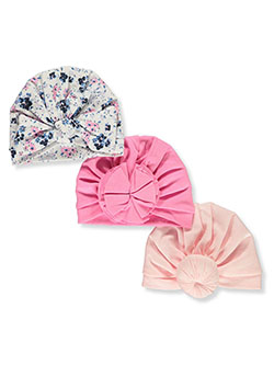 Baby Girls' 3-Pack Turban Wraps by Little Me in Pink/multi - Cold Weather Accessories