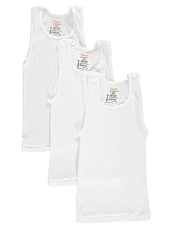 Big Boys' 3-Pack Tagless Tanks by Hanes in White