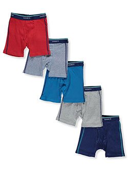 Boys' Tagless 5-Pack Boxer Briefs by Hanes in Assorted