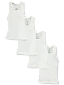 Boys' 4-Pack Boys Tagless Tanks by Hanes in White/multi